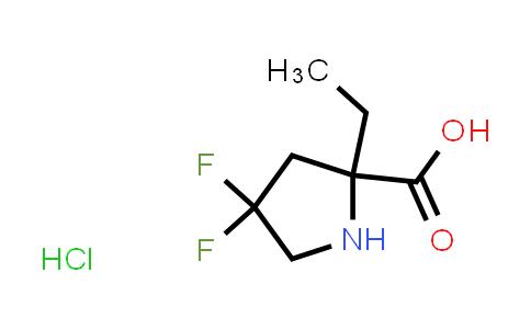 MC458624 | 1823330-58-0 | 2-ethyl-4,4-difluoropyrrolidine-2-carboxylic acid hydrochloride