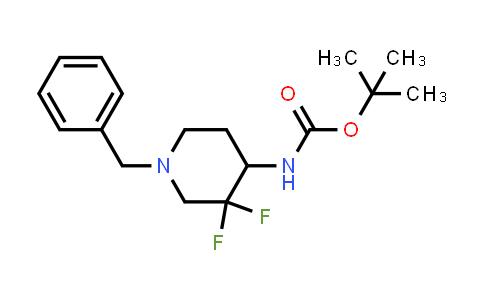 1823420-40-1 | tert-butyl 1-benzyl-3,3-difluoropiperidin-4-ylcarbamate