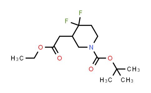 1864052-94-7 | tert-butyl 3-(2-ethoxy-2-oxoethyl)-4,4-difluoropiperidine-1-carboxylate