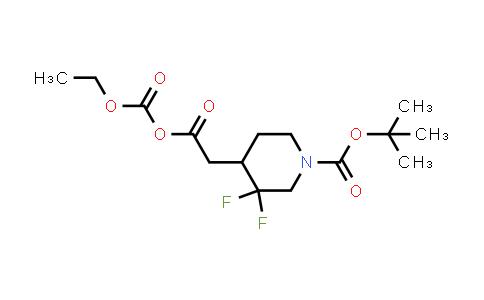 2101206-54-4 | Tert-butyl 4-(2-ethoxycarbonyloxy-2-oxoethyl)-3,3-difluoropiperidine-1-carboxylate