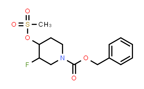 MC458636 | 2101206-76-0 | benzyl Trans-3-fluoro-4-((methylsulfonyl)oxy)piperidine-1-carboxylate racemate