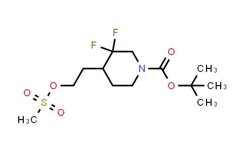 MC458640 | 1881296-52-1 | tert-butyl 3,3-difluoro-4-(2-(methylsulfonyloxy)ethyl)piperidine-1-carboxylate