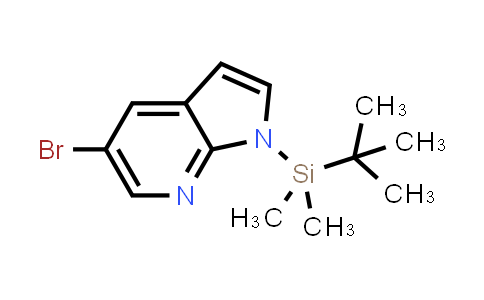 DY458641 | 754214-54-5 | 1H-PYRROLO[2,3-B]PYRIDINE, 5-BROMO-1-[(1,1-DIMETHYLETHYL)DIMETHYLSILYL]-