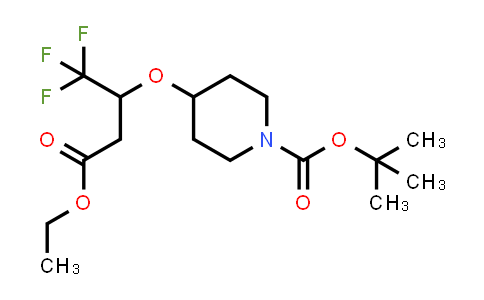 MC458647 | 1864074-89-4 | tert-butyl 4-(4-ethoxy-1,1,1-trifluoro-4-oxobutan-2-yloxy)piperidine-1-carboxylate