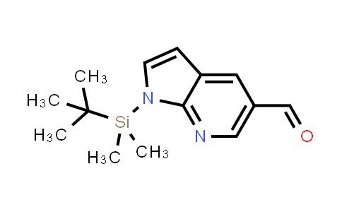 DY458653 | 754214-46-5 | 1H-PYRROLO[2,3-B]PYRIDINE-5-CARBOXALDEHYDE, 1-[(1,1-DIMETHYLETHYL)DIMETHYLSILYL]-