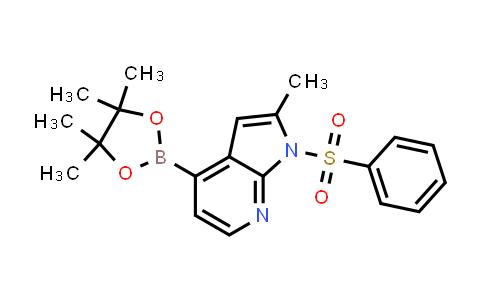 MC458657 | 1014613-31-0 | 1H-PYRROLO[2,3-B]PYRIDINE, 2-METHYL-1-(PHENYLSULFONYL)-4-(4,4,5,5-TETRAMETHYL-1,3,2-DIOXABOROLAN-2-YL)-