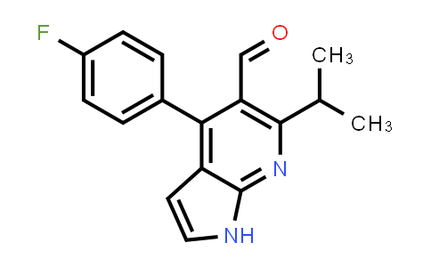 140640-93-3 | 1H-PYRROLO[2,3-B]PYRIDINE-5-CARBOXALDEHYDE, 4-(4-FLUOROPHENYL)-6-(1-METHYLETHYL)-