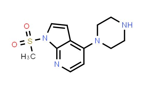 DY458670 | 1031481-90-9 | 1H-PYRROLO[2,3-B]PYRIDINE, 1-(METHYLSULFONYL)-4-(1-PIPERAZINYL)-