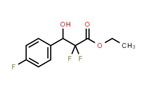321856-40-0 | ethyl 2,2-difluoro-3-(4-fluorophenyl)-3-hydroxypropanoate