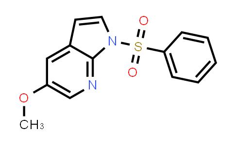 MC458708 | 397842-89-6 | 1H-PYRROLO[2,3-B]PYRIDINE, 5-METHOXY-1-(PHENYLSULFONYL)-