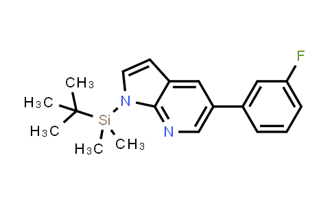 DY458717 | 611226-88-1 | 1H-PYRROLO[2,3-B]PYRIDINE, 1-[(1,1-DIMETHYLETHYL)DIMETHYLSILYL]-5-(3-FLUOROPHENYL)-