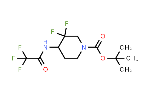 MC458755 | 1823836-00-5 | tert-butyl 3,3-difluoro-4-(2,2,2-trifluoroacetamido)piperidine-1-carboxylate