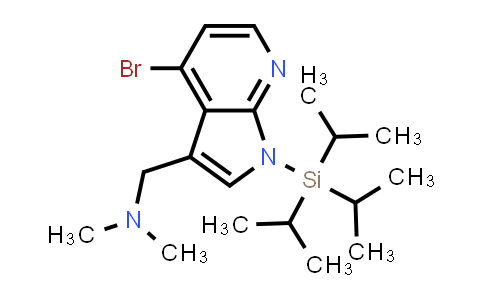 DY458771 | 858116-79-7 | 1H-PYRROLO[2,3-B]PYRIDINE-3-METHANAMINE, 4-BROMO-N,N-DIMETHYL-1-[TRIS(1-METHYLETHYL)SILYL]-