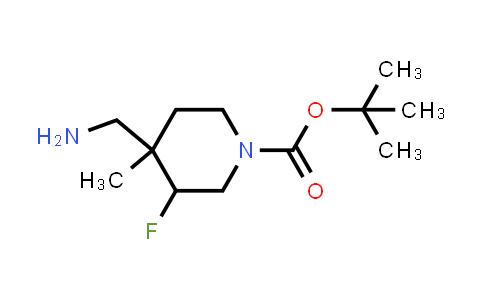 1334416-43-1 | tert-butyl 4-(aminomethyl)-3-fluoro-4-methylpiperidine-1-carboxylate