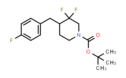 1334412-83-7 | tert-butyl 3,3-difluoro-4-(4-fluorobenzyl)piperidine-1-carboxylate