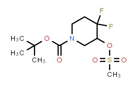 1881288-58-9 | tert-butyl 4,4-difluoro-3-((methylsulfonyl)oxy)piperidine-1-carboxylate