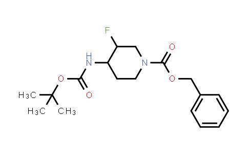 MC458828 | 1932010-74-6 | benzyl Cis-4-((tert-butoxycarbonyl)amino)-3-fluoropiperidine-1-carboxylate racemate