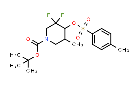 1881331-28-7 | tert-butyl 3,3-difluoro-5-methyl-4-(tosyloxy)piperidine-1-carboxylate