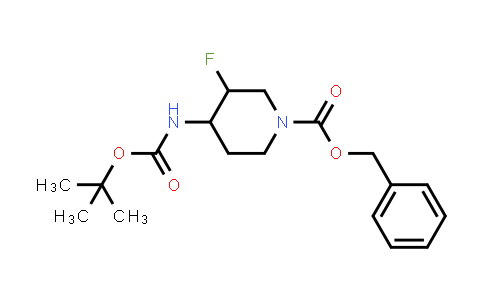 MC458831   1372857-83-4   benzyl Trans-4-((tert-butoxycarbonyl)amino)-3-fluoropiperidine-1-carboxylate racemate