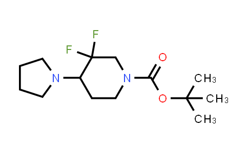 MC458835 | 1686139-26-3 | tert-butyl 3,3-difluoro-4-(pyrrolidin-1-yl)piperidine-1-carboxylate
