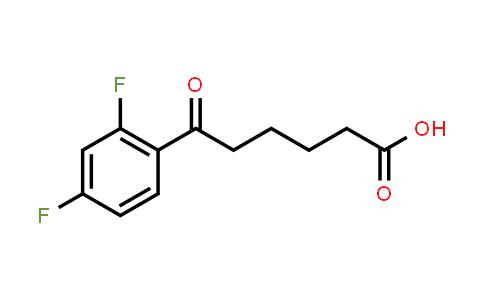 951888-83-8 | 6-(2,4-Difluorophenyl)-6-oxohexanoic acid