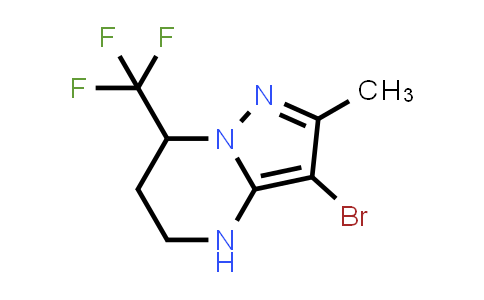 MC458921 | 934063-79-3 | 3-BROMO-2-METHYL-7-(TRIFLUOROMETHYL)-4,5,6,7-TETRAHYDROPYRAZOLO[1,5-A]PYRIMIDINE