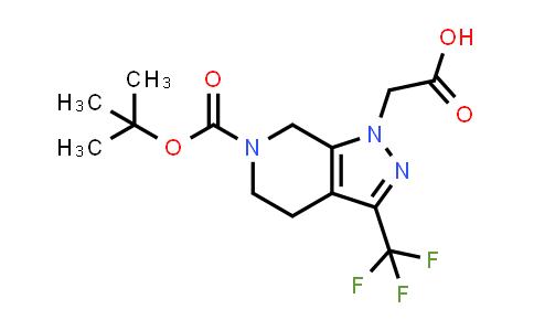 1189579-70-1 | 1-CARBOXYMETHYL-3-TRIFLUOROMETHYL-1,4,5,7-TETRAHYDRO-PYRAZOLO[3,4-C]PYRIDINE-6-CARBOXYLIC ACID TERT-BUTYL ESTER