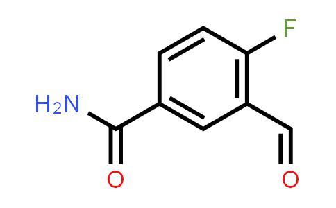 1005763-14-3 | 4-FLUORO-3-FORMYLBENZAMIDE