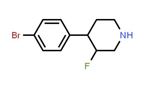 1334415-98-3 | 4-(4-bromophenyl)-3-fluoropiperidine
