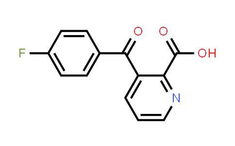 122853-70-7 | 3-(4-FLUORO-BENZOYL)-PYRIDINE-2-CARBOXYLIC ACID