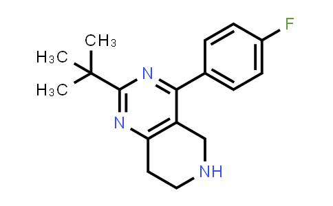 924652-53-9 | 2-TERT-BUTYL-4-(4-FLUORO-PHENYL)-5,6,7,8-TETRAHYDRO-PYRIDO[4,3-D]PYRIMIDINE