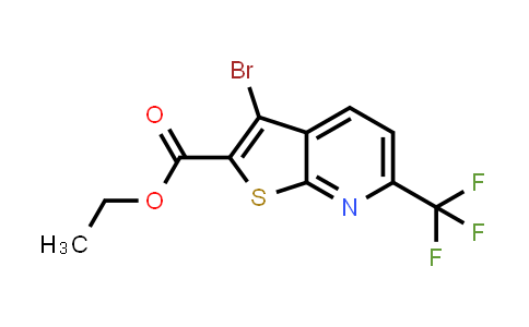 MC459108 | 1042442-04-5 | 3-BROMO-6-TRIFLUOROMETHYL-THIENO[2,3-B]PYRIDINE-2-CARBOXYLIC ACID ETHYL ESTER