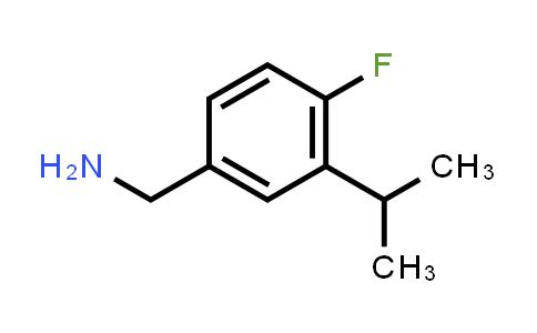 MC459112 | 1245808-00-7 | 4-FLUORO-3-ISOPROPYL-BENZYLAMINE