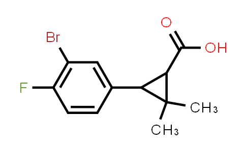 MC459115 | 335064-70-5 | 3-(3-BROMO-4-FLUORO-PHENYL)-2,2-DIMETHYL-CYCLOPROPANECARBOXYLIC ACID