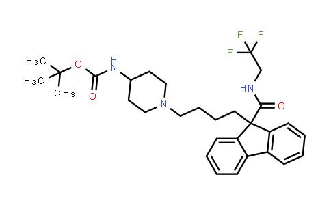 MC459132 | 182430-77-9 | tert-butyl 1-(4-(9-(2,2,2-trifluoroethylcarbamoyl)-9H-fluoren-9-yl)butyl)piperidin-4-ylcarbamate