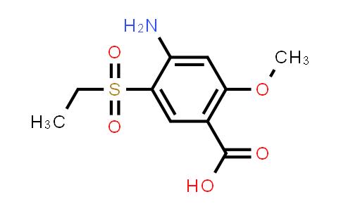 71675-87-1 | 4-amino-5-(ethyl sulfonyl)-2-methoxybenzoic acid