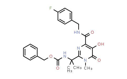 518048-02-7 | Benzyl 2-(4-(4-fluorobenzylcarbamoyl)-5-hydroxy-1-methyl-6-oxo-1,6-dihydropyrimidin-2-yl)propan-2-ylcarbamate