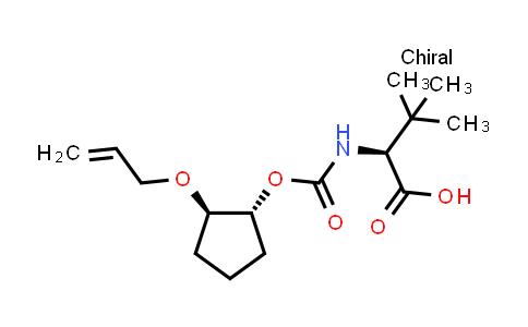 DY459283 | 1365970-45-1 | (S)-2-(((((1R,2R)-2-(allyloxy)cyclopentyl)oxy)carbonyl)amino)-3,3-dimethylbutanoic acid
