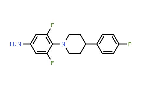 1332356-31-6 | 3,5-difluoro-4-(4-(4-fluorophenyl)piperidin-1-yl)aniline