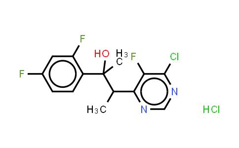 188416-35-5   (2R,3S/2S,3R)-3-(4-chloro-5-fluoro-6-pyrimidinyl)-2-(2,4-difluorophenyl)butan-2-ol hydrochloride