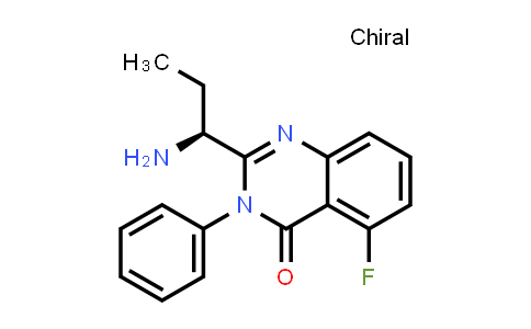 870281-86-0 | (S)-2-(1-aMinopropyl)-5-fluoro-3-phenylquinazolin-4(3H)-one
