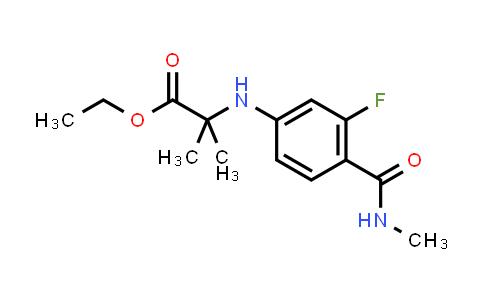 1258638-92-4 | N-[3-fluoro-4-[(methylamino)carbonyl]phenyl]-2-methyl-Alanine ethyl ester