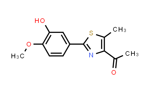 1638148-85-2   1-(2-(3-hydroxy-4-methoxyphenyl)-5-methylthiazol-4-yl)-ethan-1-one