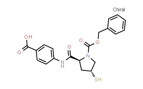393158-03-7 | 1-Pyrrolidinecarboxylic acid,2-[[(4-carboxyphenyl)amino]carbonyl]-4-mercapto-, 1-(phenylmethyl)ester, (2S,4R)-