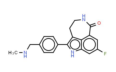 283173-50-2 | 8-FLUOR-2-{4-[(METHYLAMINO)METHYL]FENYL}-1,3,4,5-TETRAHYDRO-6HAZEPINO[5,4,3-CD]INDOOL-6-ON