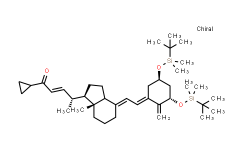 112849-17-9 | (R,E)-4-((1R,3aS,7aR,E)-4-((E)-2-((3S,5R)-3,5-bis((tert-butyldimethyl-silyl)oxy)-2-methylenecyclohexyl-idene) ethylidene)-7a-methyl octahydro-1H-inden-1-yl)-1-cyclopropylpent-2-en-1-one