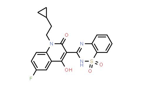 477931-14-9 | 2(1H)-QUINOLINONE, 1-(2-CYCLOPROPYLETHYL)-3-(1,1-DIOXIDO-2H-1,2,4-BENZOTHIADIAZIN-3-YL)-6-FLUORO-4-HYDROXY-