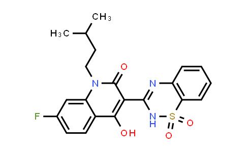 477930-58-8 | 3-(1,1-dioxido-2H-1,2,4-benzothiadiazin-3-yl)-7-fluoro-4-hydroxy-1-(3-methylbutyl)-2(1H)-Quinolinone