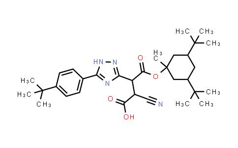 194419-31-3 | 3-[5-(4-tert-butylphenyl)-1H-1,2,4-triazol-3-yl]-2-cyano-4-[(3,5-di-tert-butyl-1-methylcyclohexyl)oxy]-4-oxobutanoic acid