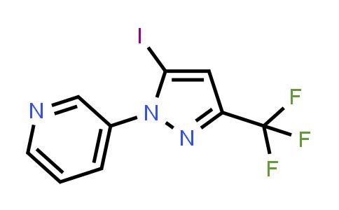 1255041-98-5 | 3-[5-iodo-3-(trifluoromethyl)-1H-pyrazol-1-yl]pyridine